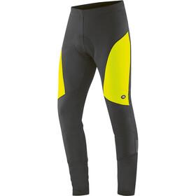 Gonso Montana Hip 2 Pantaloni Softshell con imbottitura Uomo, nero/giallo